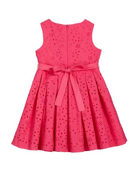 Eyelet Embroidered Sleeveless Dress, Size 7-14
