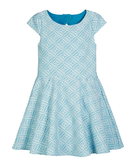 Zoe Metallic Studded Knit Pocket Dress, Size 7-16