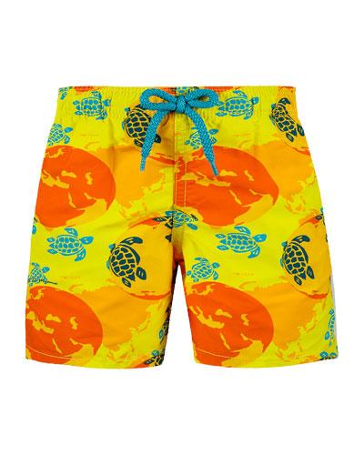 Jim Printed Swim Trunks  Size 2-14