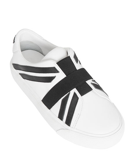 c5aab5af631 Burberry Cedbury Union Jack Leather Slip-On Sneakers