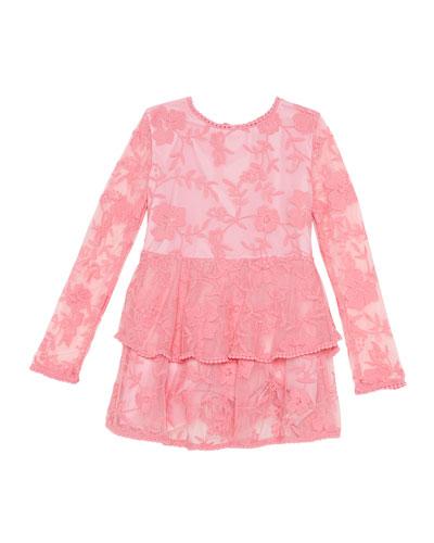Ember Long-Sleeve Lace Dress  Size 8-16