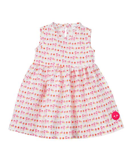 Summer House Sunset Print Seersucker Dress, Size 0-18 Months