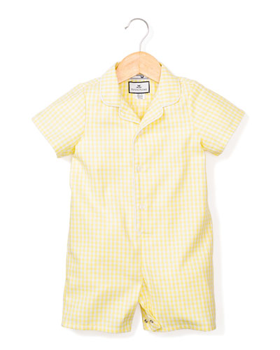 Gingham Summer Shortall  Size 0-24 Months