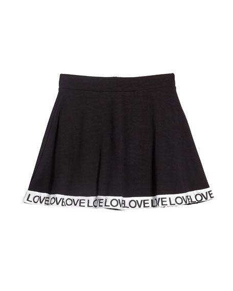 Flare Skort w/ Love Taping, Size S-XL
