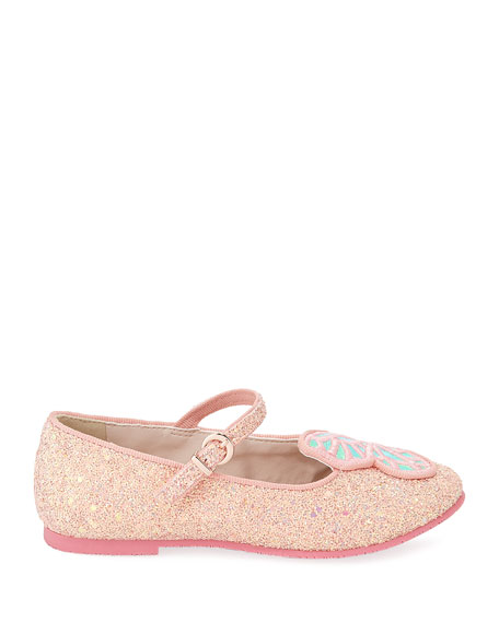 Butterfly Glittered Ballet Flats, Toddler/Kids
