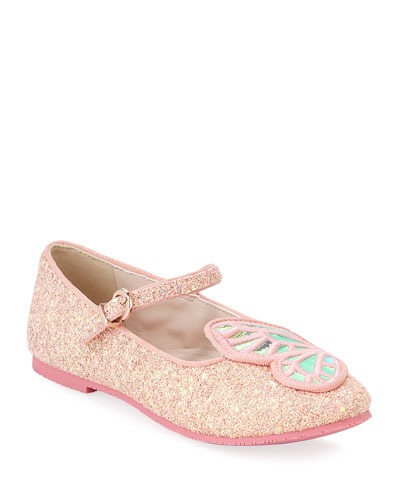 Butterfly Glittered Ballet Flats  Toddler/Kids