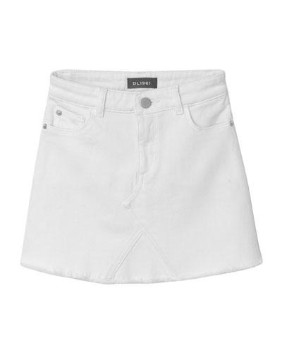 Jenny Raw-Edge Mini Skirt  Size 7-18