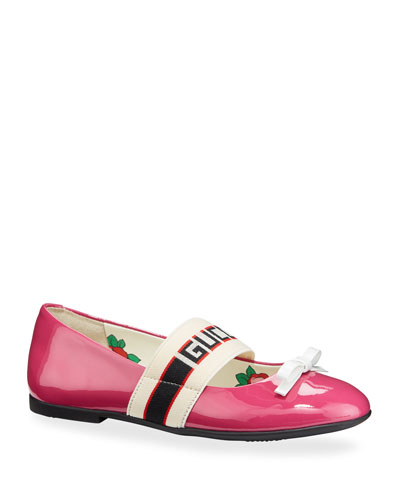 Patent Leather Gucci Band Ballet Flats  Kids