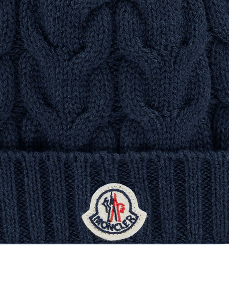 Kid's Cable Knit Virgin Wool Hat