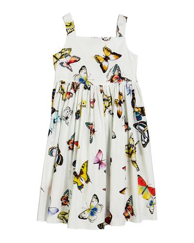 f3b329e3 Butterfly-Print Poplin Sleeveless Dress Size 8-12 Quick Look. Dolce &  Gabbana