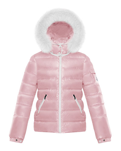Girl's Bady Quilted Jacket w/ Fur Trimmed Hood  Size 4-6