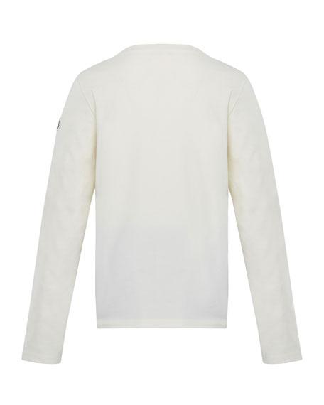Glitter Logo Long-Sleeve T-Shirt, Size 4-6