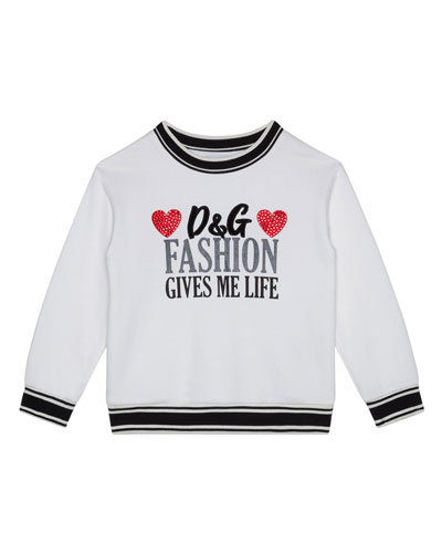Girl's Fashion Gives Me Life Sweatshirt, Size 4-6
