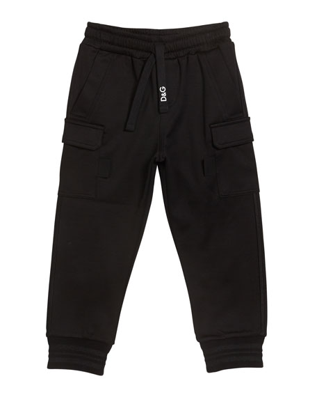 Boy's Jogger Sweatpants with Side Pockets, Size 8-12