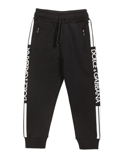 Boy's Logo Sides Jogger Pants  Size 8-12