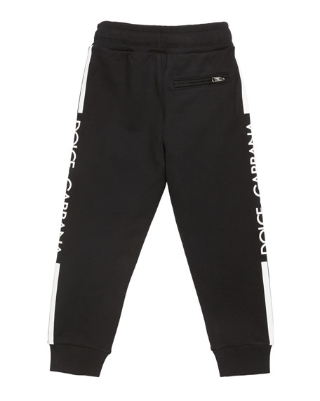 Boy's Logo Sides Jogger Pants, Size 4-6