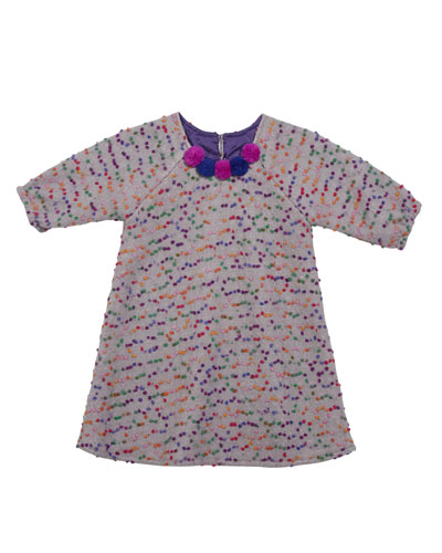 Confetti-Dotted A-Line Dress  Size 4-6