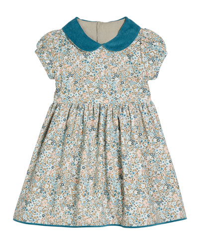 Floral Organic Cotton Dress  Size 2T-4T