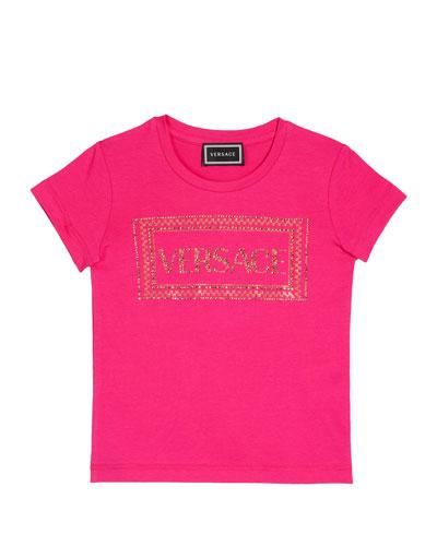 Girl's Studded Logo T-Shirt  Size 8-14