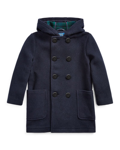 Edale Double-Breasted Wool Peacoat  Size 2-4