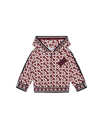 Kid's DG Print Zip-Up Hooded Jacket  Size 4-6
