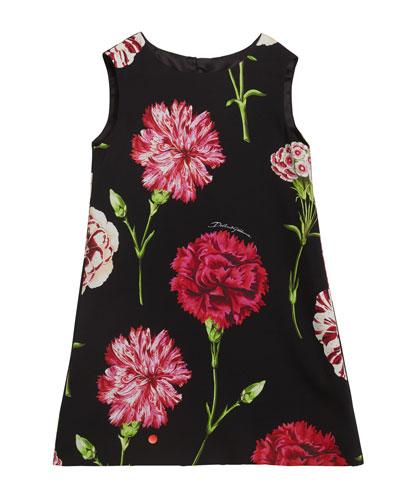 Girl's Sleeveless Floral Dress  Size 2-6