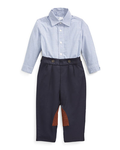 Boy's Broadcloth Woven Shirt w/ Twill Pants  Size 6-24 Months