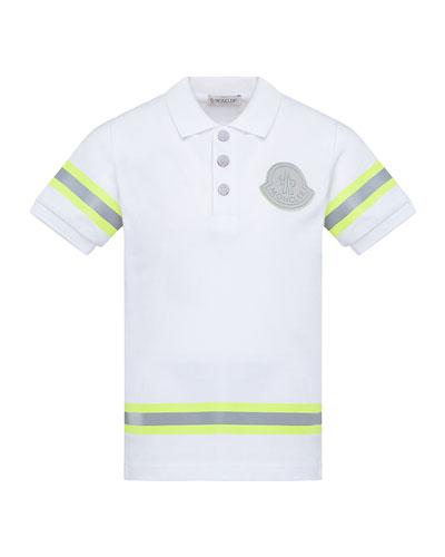 Boy's Maglia Polo Shirt w/ Reflective Tape  Size 4-6