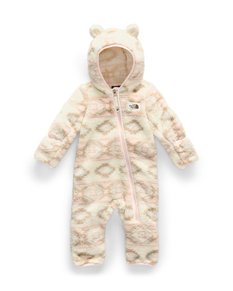 Girl's Campshire Sherpa Fleece Hooded Coverall, Size 6-24 Months