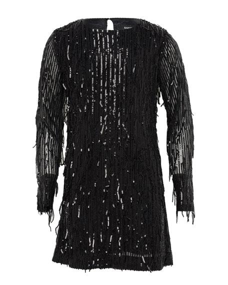 Girl's Louris Tassel Shift Dress, Size 7-16