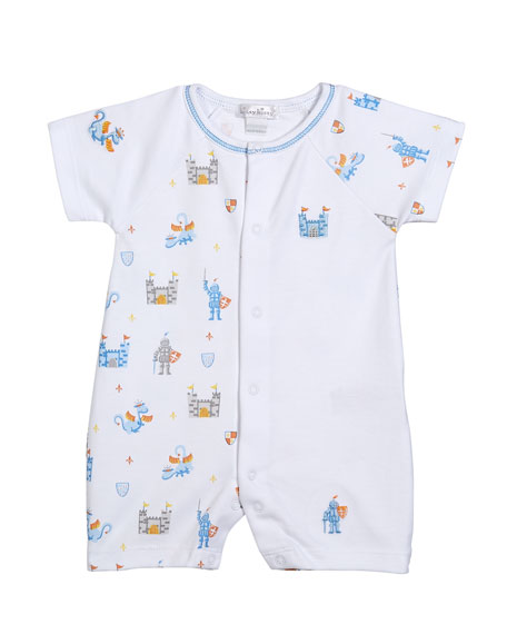 Dragon Castle Printed Shortall, Size 3-24 Months