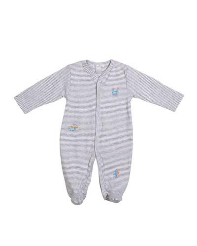 Dragon Castle Stripe Footie Playsuit  Size Newborn-9 Months