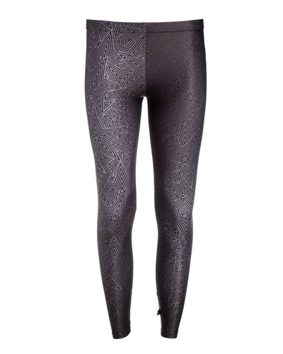 Girl's Metallic Superstar Leggings  Size 7-16