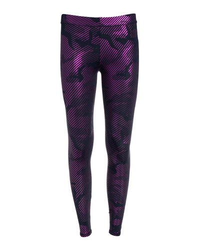 Girl's Camo Foil Printed Leggings  Size 7-16