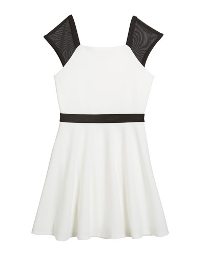 The York Mesh Trim Dress  Size S-XL