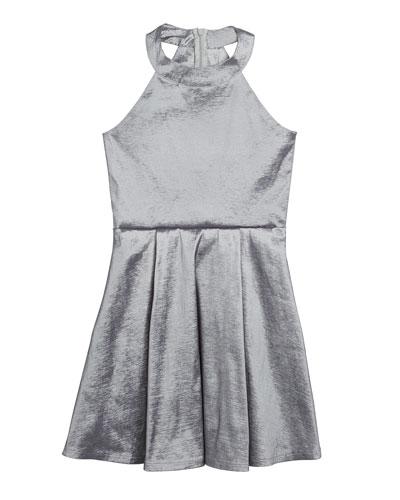 The Platinum Pocket Halter Dress  Size S-XL