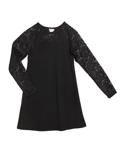 The Alexis Lace Sleeves Dress  Size S-XL