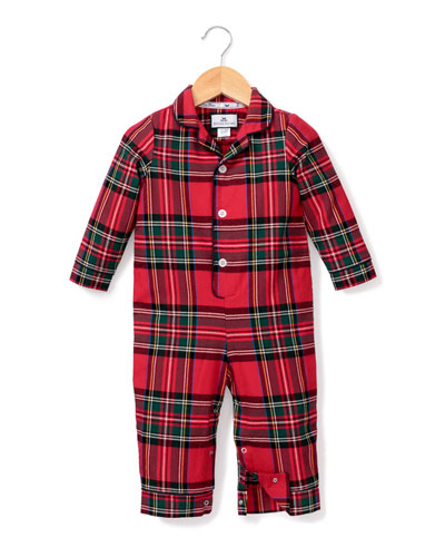 Imperial Tartan Plaid Pajama Coverall, Size 0-24 Months