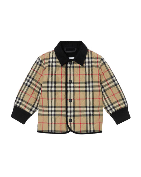 Boy's Culford Check Quilted Jacket, Size 6M-2