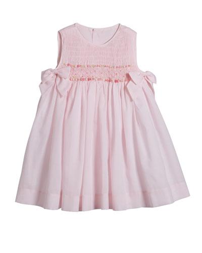 Sleeveless Smocked Bow Dress  Size 4-6X