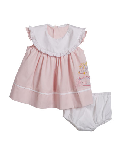 Birthday Dress with Bloomers  Size 12-24 Months