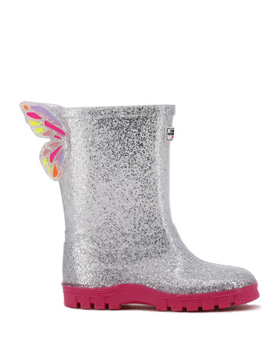 Glitter Welly Butterfly Rain Boots  Baby/Toddler