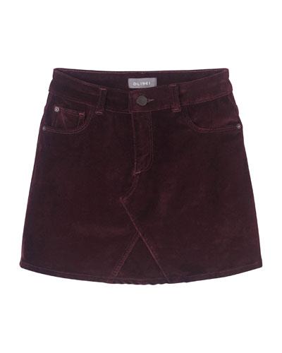 Girl's Jenny Velvet Skirt, Size 7-16