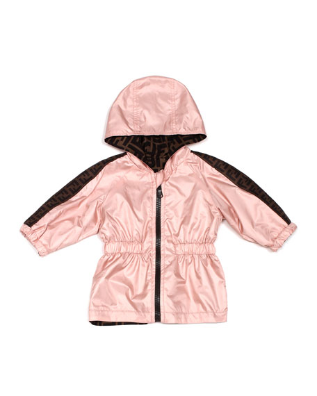 Image 1 of 1: Light Reversible Hooded FF Jacket, Size 12-24 Months