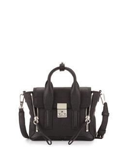 Mini Pashli Leather Satchel, Black