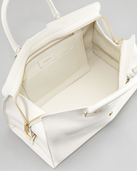 New Cabas Chyc Medium Tote Bag, White