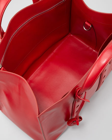 Primo Small Open-Top Tote Bag, Red