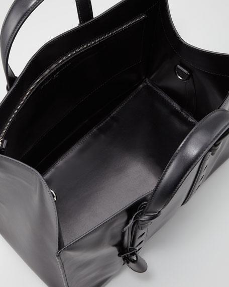 Primo Small Open-Top Tote Bag, Black