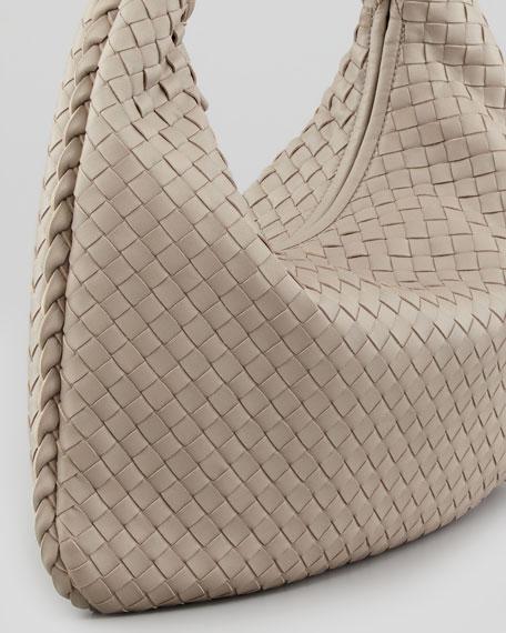 Medium Veneta Hobo Bag, Light Gray