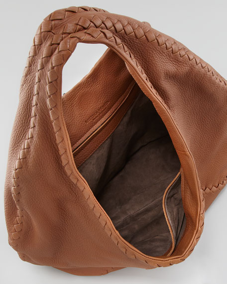 Cervo Hobo Bag, Medium Brown